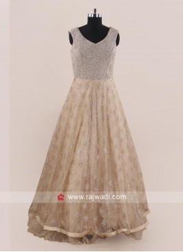 Designer Party Wear Net Gown
