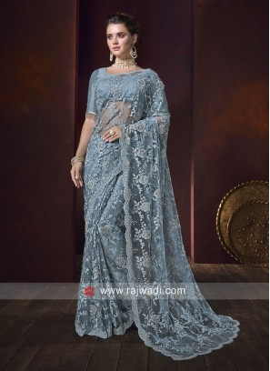 Designer Party Wear Net Saree