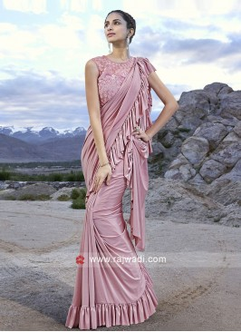 Designer Party Wear Saree in Pink