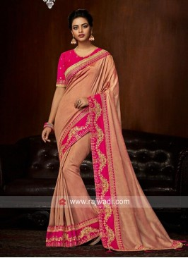 Designer Patch Border Work Saree