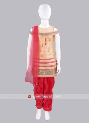 Designer Patiala Suit for Girls