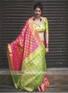 Designer Patola Silk Wedding Saree