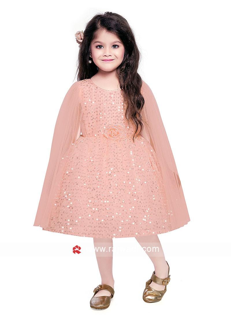Designer Peach Color Gown