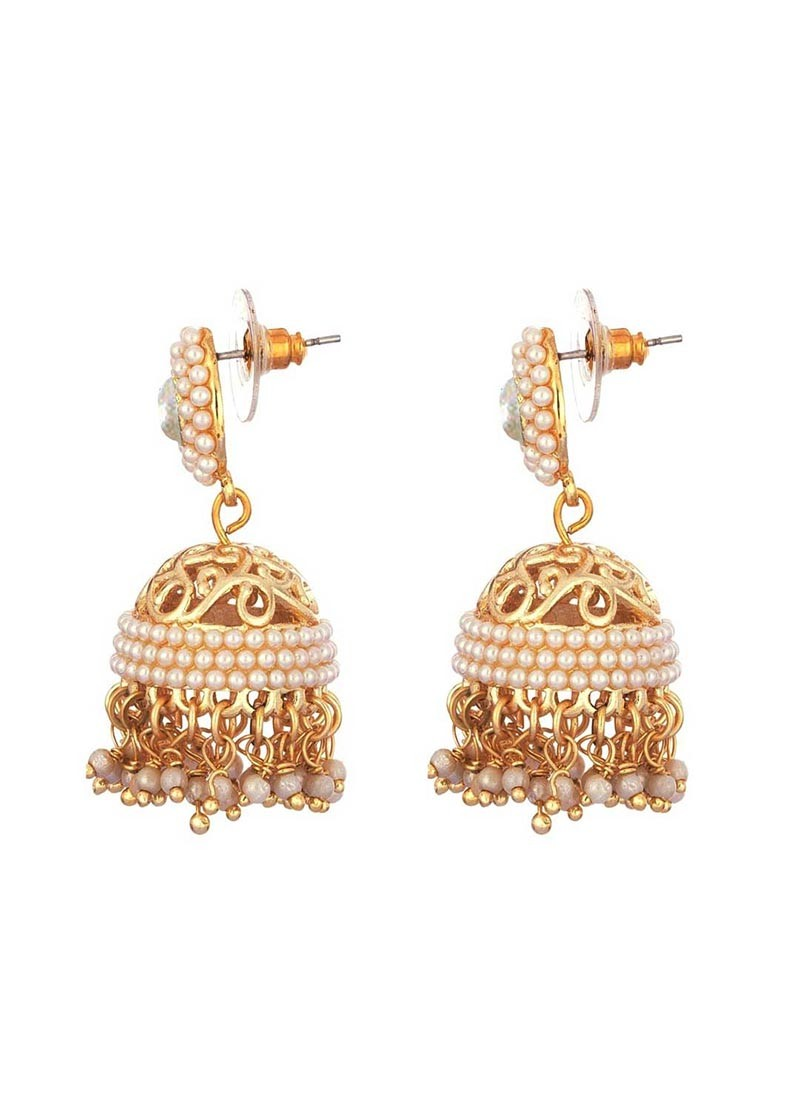 Designer Pearl Jhumki Earrings