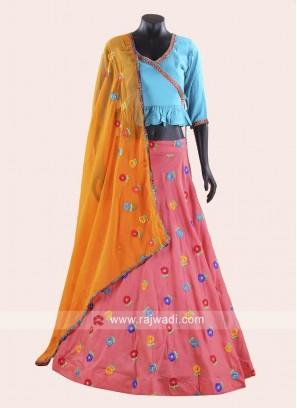 Designer Peplum Choli Lehenga for Dandia