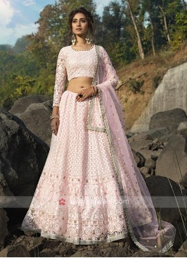 Designer Pink Color Lehenga Choli