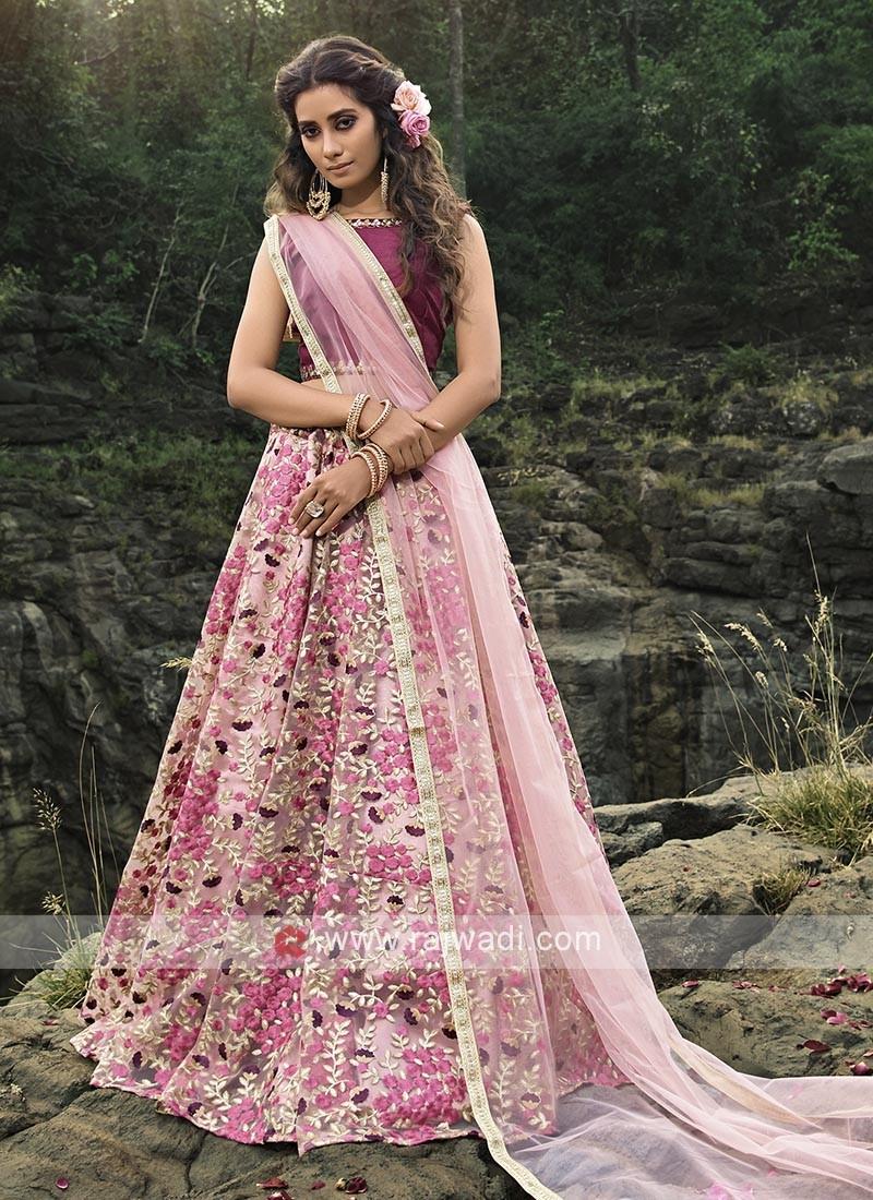 Designer Pink Color Lehenga Choli