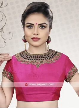 Designer Pink Color Ready Choli
