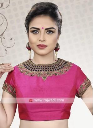 Designer Pink Color Ready Choli