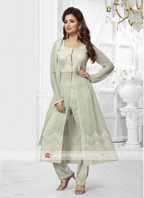Designer Pista Green Salwar Suit