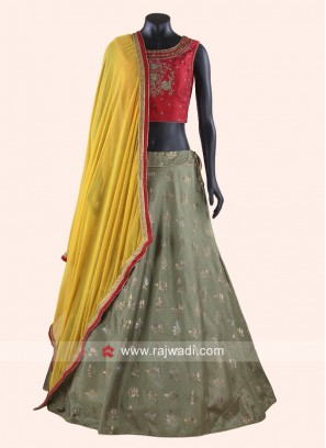 Designer Printed Lehenga Choli with Dupatta
