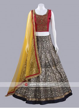 Designer Printed Lehenga Set with Dupatta