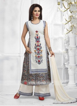 Designer Printed Salwar Suit with Dupatta