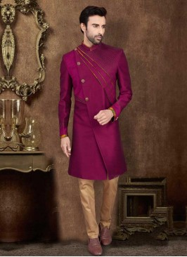 Designer Purple Indo-Western