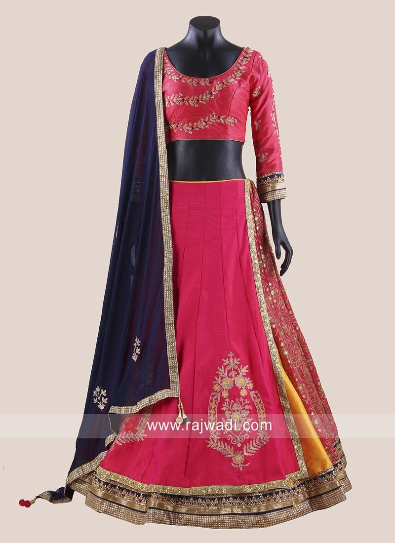 Designer Raw Silk Choli Suit