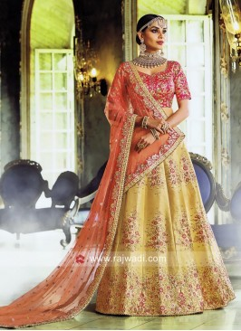 Designer Raw Silk Lehenga Set