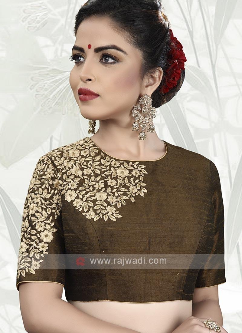Designer Raw Silk Ready Choli