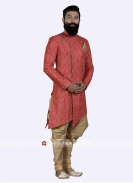 Designer Red Color Indo Western