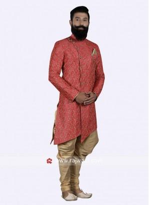 Designer Red Color Indo Western