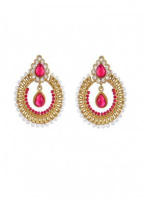 Designer Red Dangler Earring