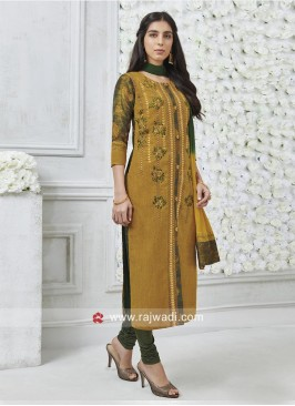 Designer Resham and Zari Work Salwar Suit