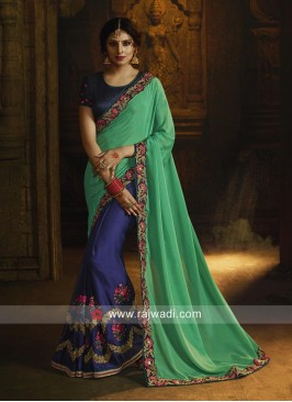 Designer Resham and Zari Work Saree