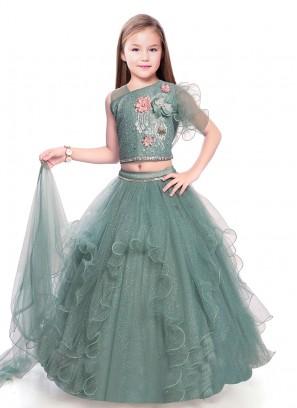 Designer Ruffle Style Lehenga Choli