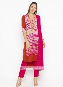 Designer Rust Colour Salwar Suit