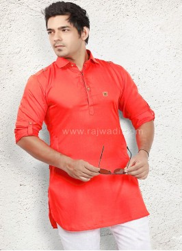 Designer Rust coloured Kurta