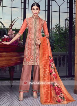 Designer Salwar Suit in Rust