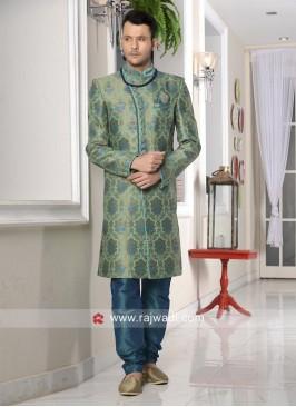 Designer Sea Green Indo Western