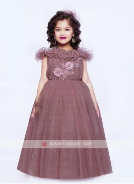 Designer Sequins Work Gown For Girls