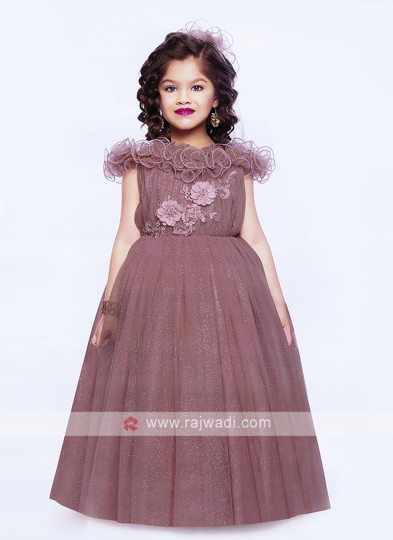 Designer Sequins Work Gown For Girls