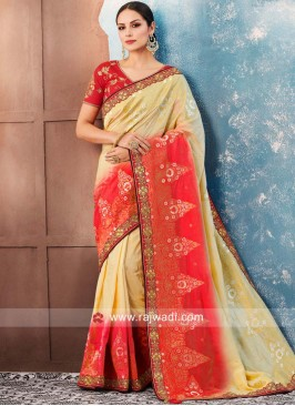 Designer Sequins Work Saree