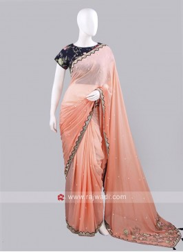 Designer Shaded Saree with Choli