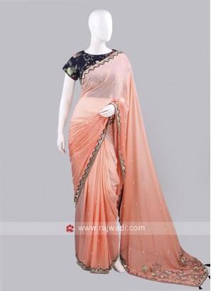 Designer Shaded Saree with Choli