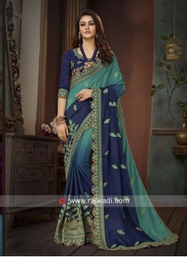 Designer Shaded Sari with Embroidered Border