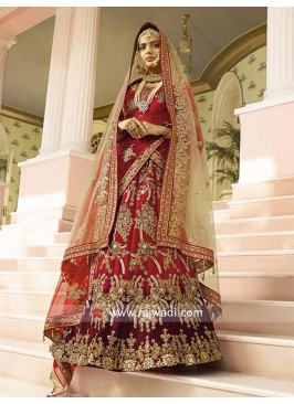 Designer Shaded Satin Lehenga