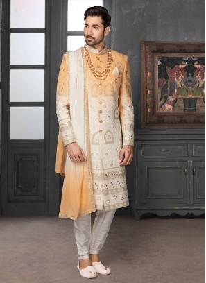 Designer Shaded Sherwani For Dulha