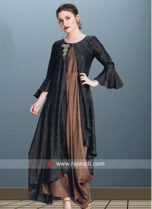 Designer Silk Asymmetrical Kurti