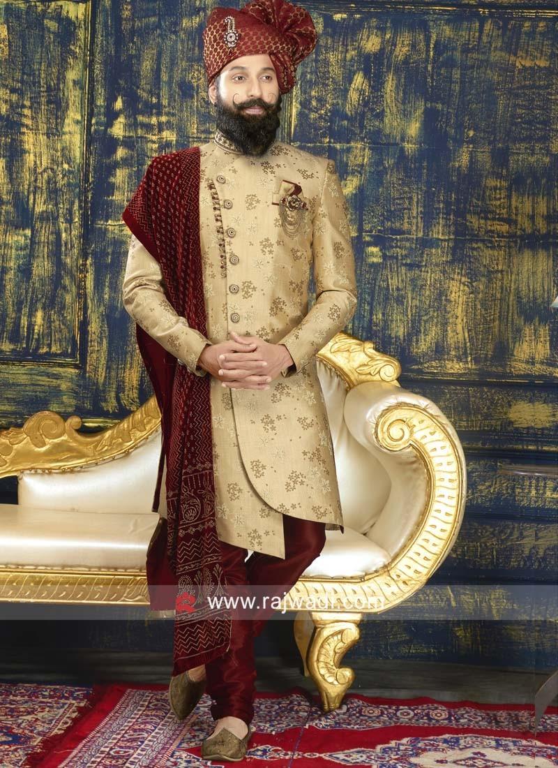 Designer Silk Fabric Indo Western