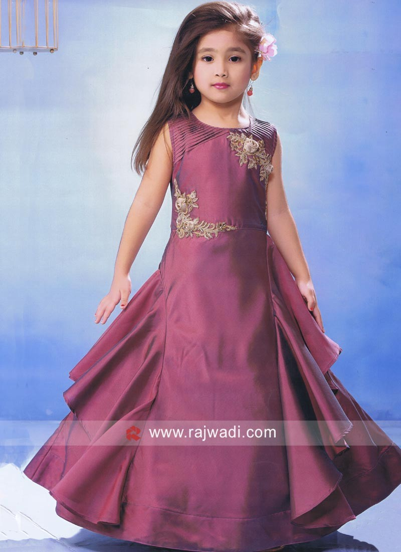 Designer Silk Kids Gown