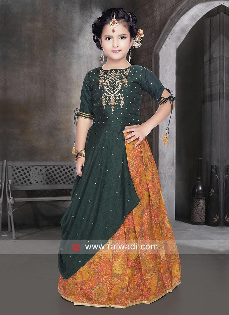 Designer Silk Lehenga Choli for Girls