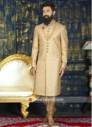 Designer Silk Sherwani For Wedding