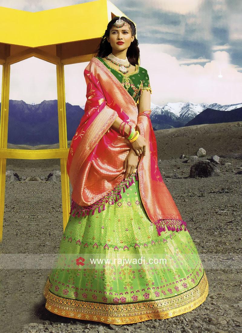 Designer Silk Wedding Lehenga Choli