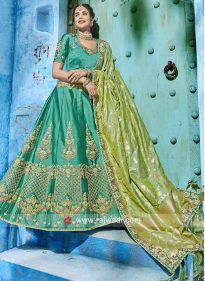 Designer Soft Silk Lehenga Set