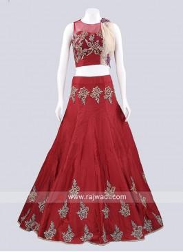 Designer Taffeta Silk Lehenga Set
