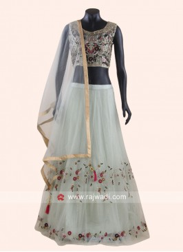 Designer Thread Work Net Lehenga Set