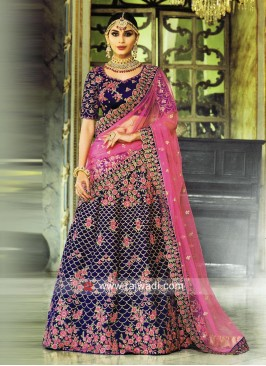 Designer Wedding Flower Work Lehenga