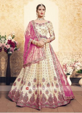 Designer Unstitched Lehenga Set